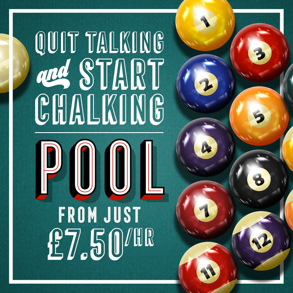 Pool from just £7.50 an hour