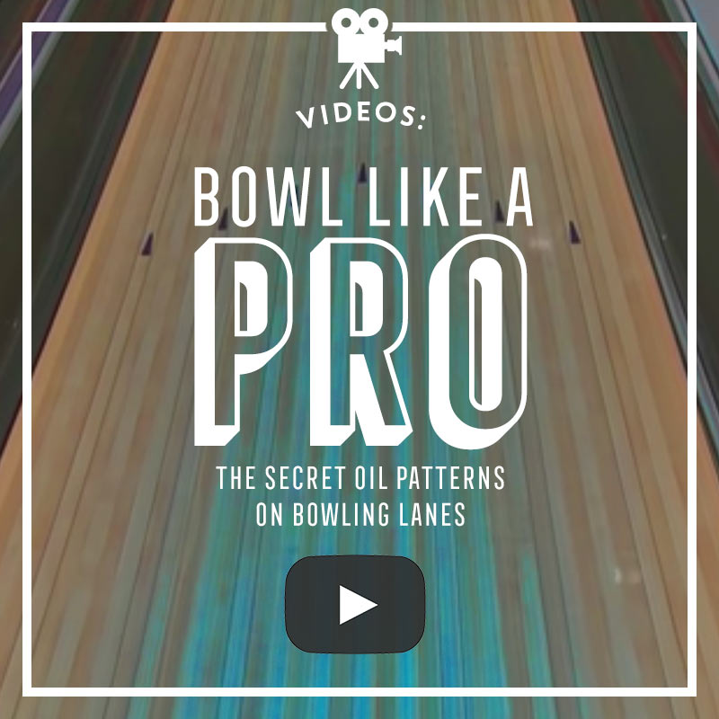 The hidden oil patterns in bowling lanes